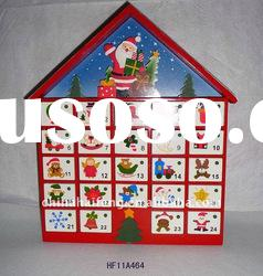 Wooden House Advent Calendar for Christmas Ornament
