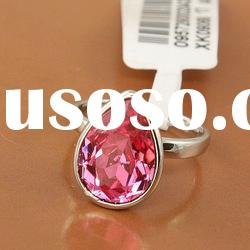 (0625103) Stainless Steel Red Stone Fashion Jewelry Ring
