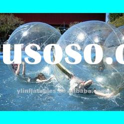 clear inflatable water pool ball/aqua ball