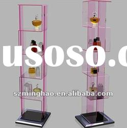 elegant design acrylic perfume display stand