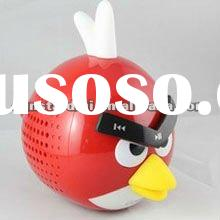 fashion design angry bird mini speaker with usb input