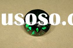 green round brilliant cut cubic zirconia synthetic gemstones