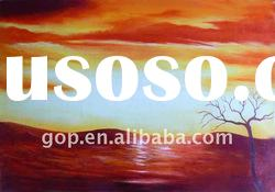 handpainted abstract art trees oil painting