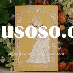 hot sale!! red hot stamp gold wedding invitation cards -- W007