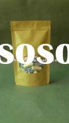 kraft paper bag with plastic for food and toy Stand up pouch kraft paper bag with zipper