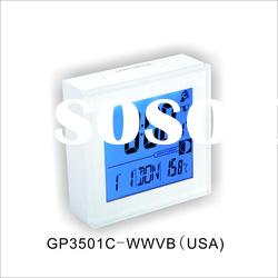 lCD Radio controlled clock with color changing