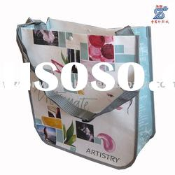 laminated pp non woven shoulder bag for promotion