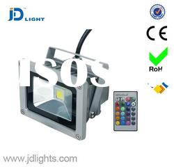 outdoor IP65 10w remote control rgb led flood light