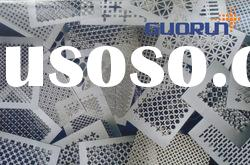 perforated metal sheet (different hole pattern) /round / slot / clover leaf /hexagonal / square hole
