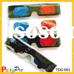 promotional Paper craft blue red disposable 3D glasses
