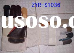 safety industrial leather working gloves
