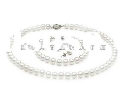 shell pearl necklace set freshwater pearl necklace set