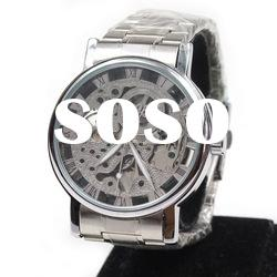 stainless steel wrist watches men leather