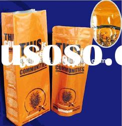 stand up with zipper bag for coffee packaging