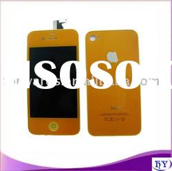 touch screen with lcd full set backcover for iphone 4G orange color