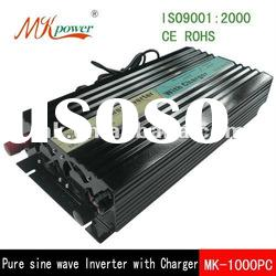 1000w pure sine wave inverter with charger, inverter charger