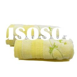 100%bamboo fiber High quality embroidered face towel