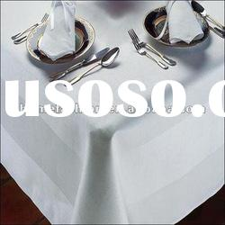 100%cotton hotel satin band tablecloth/tablelinen&tablecloth factory