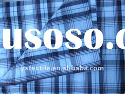 100%cotton plaid fabric for man's shirt