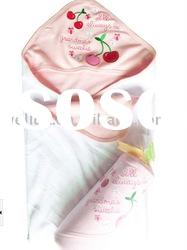 100% cotton soft interlock baby towel with hood