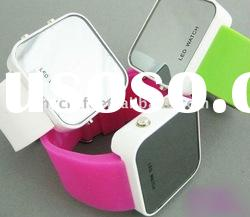 100% eco-friendly high quality silicon led watch