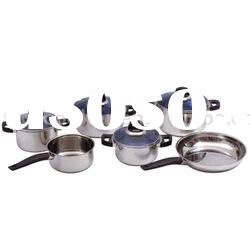 10pcs stainless steel cookware sets