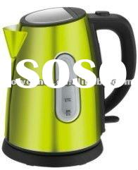 1.2l stainess steel 360 degree rotational electric kettle with concealed heating element