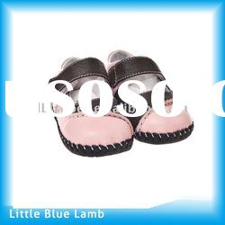 2011 lasted design grils mary jane shoes, soft sole leather baby shoes LBL-BB27117PK
