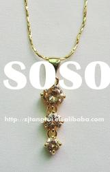2012 Gold Cubic Zirconia Fashion Necklace