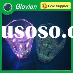 2012 hot new design led flashing light up cup/glass decorated wine glass