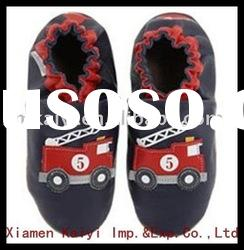 2012new soft sole leather baby shoes