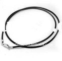 2mm thickness Simple black leather necklace