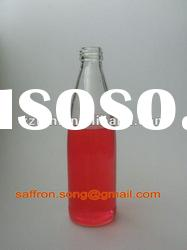 330ml Clear glass beverage bottle with screw top