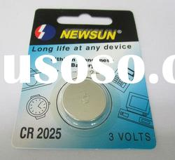 3v CR2025 Li-mn coin cell battery with individual blister card packing