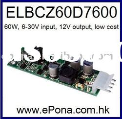 6-30VDC wide input 60W DC to DC Power supply