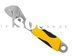 Adjustable wrench with TPR handle