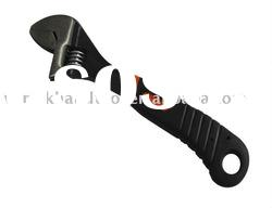 Adjustable wrench with double color PVC handle