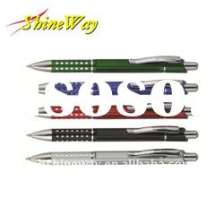 Aluminum ball pen with punching