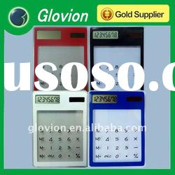 Best selling promotional solar calculator touch screen scientific transparent calculator