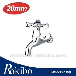 Brass washing machine hose bib tap