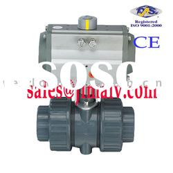 CE ISO pneumatic actuator pvc ball valve