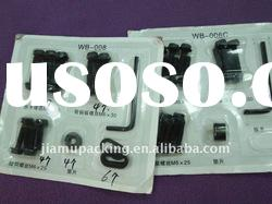 Carded plastic PVC skin packing box for screws