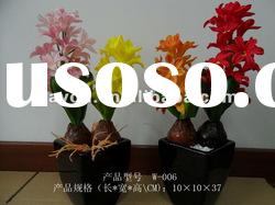 Ceramic Potted Hyacinth Ikebana PU Simulation Artificial Flowers Decorative Flowers
