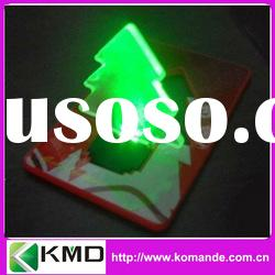 Christmas Tree led light card in red/green/yellow light