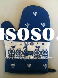 Christmas item oven mitt/glove for different design, customized material