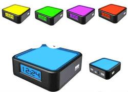 Color changing led clock with 4 port USB Hub ZD262