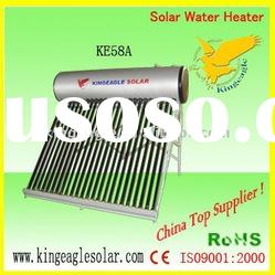 Compact non pressured solar water heater
