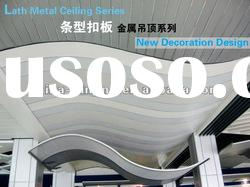 Curved linear aluminum ceiling panels(patented product)