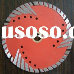 Diamond turbo blade with Teeth protection for hard stone