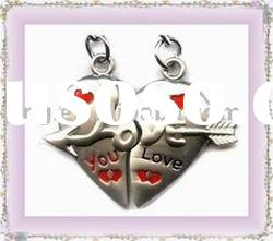 Double Lover Zinc Alloy Metal Keyring Keychain